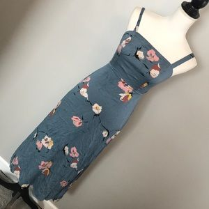 Urban Outfitters blue floral maxi dress small
